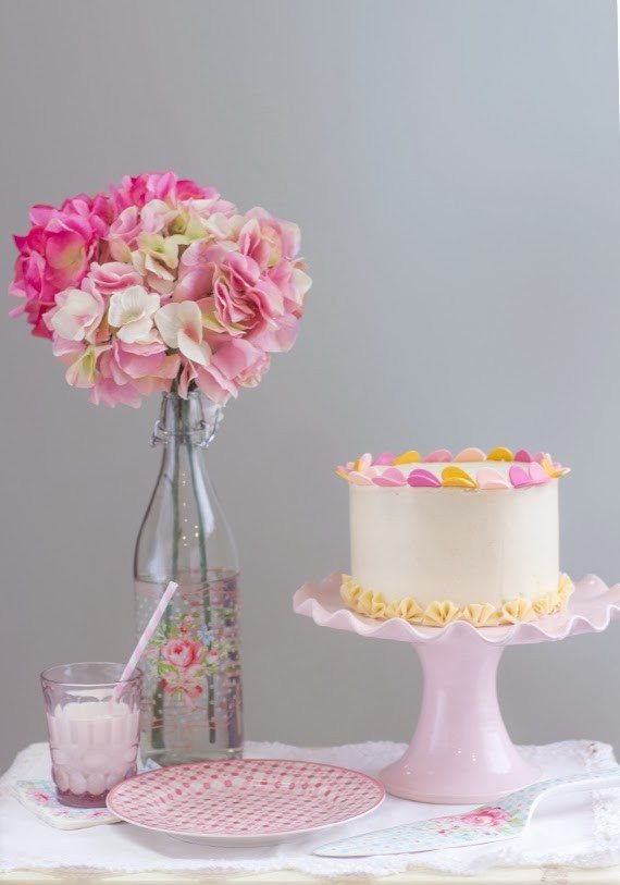 Tarta Pink Velvet Cake, rosa, aterciopelada y suave sabor a vainilla