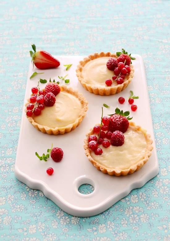 Receta De Tartaletas De Crema Pastelera Con Frutas Rojas