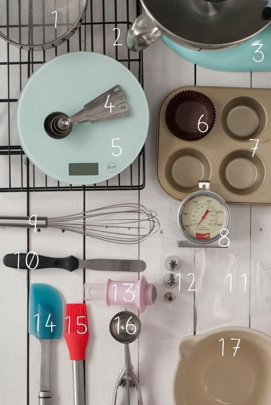 Instrumentos Básicos Para Hacer Cupcakes