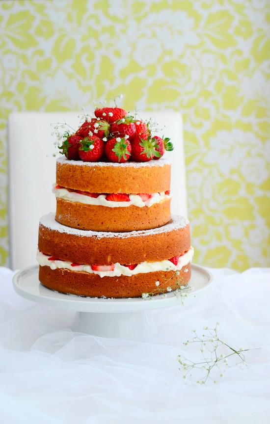 Receta De Naked Cake De Fresas Con Nata