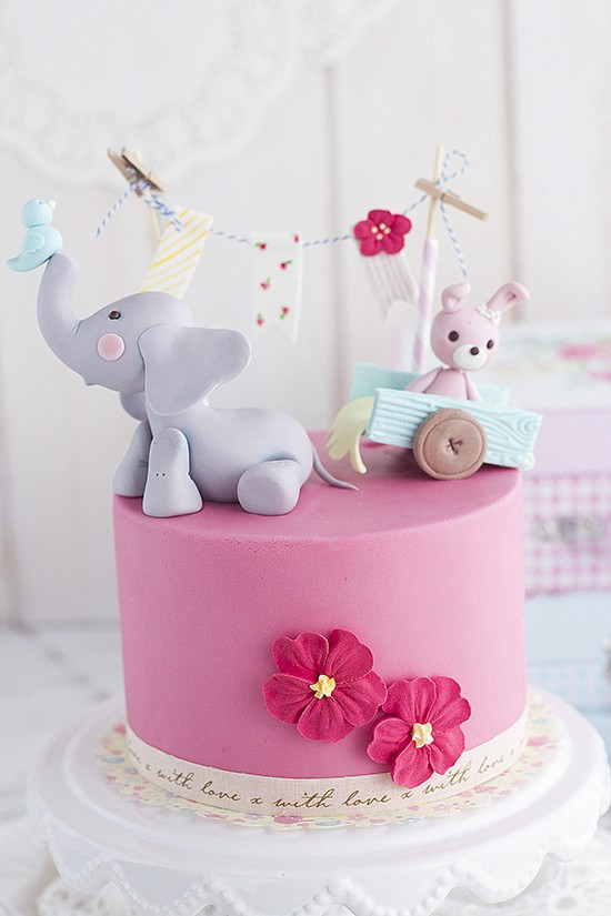 Tarta Elefante Bebe: Tutorial Como Hacer Un Elefante En Pasta De Azúcar