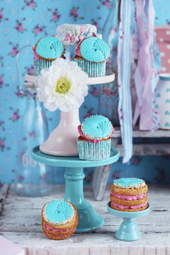 Cupcakes Drapeados (Y Como Usar Moldes De Silicona Con Fondant)