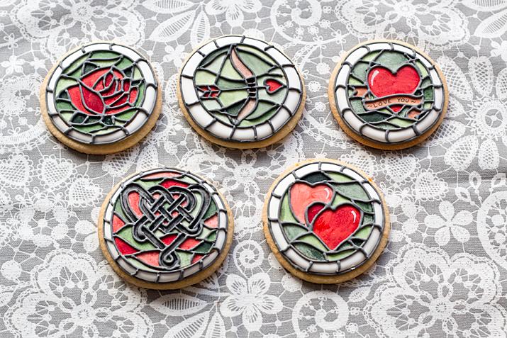 Galletas Vidriera De San Valentín