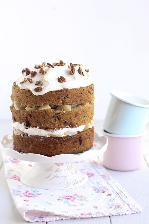 Naked Cake De Nueces Y Peras