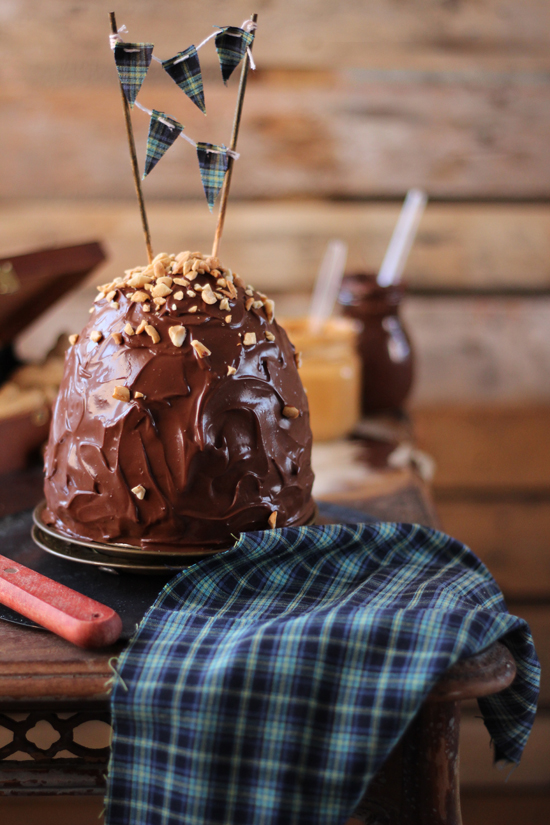 Layer cake de mantequilla de cacahuete 1