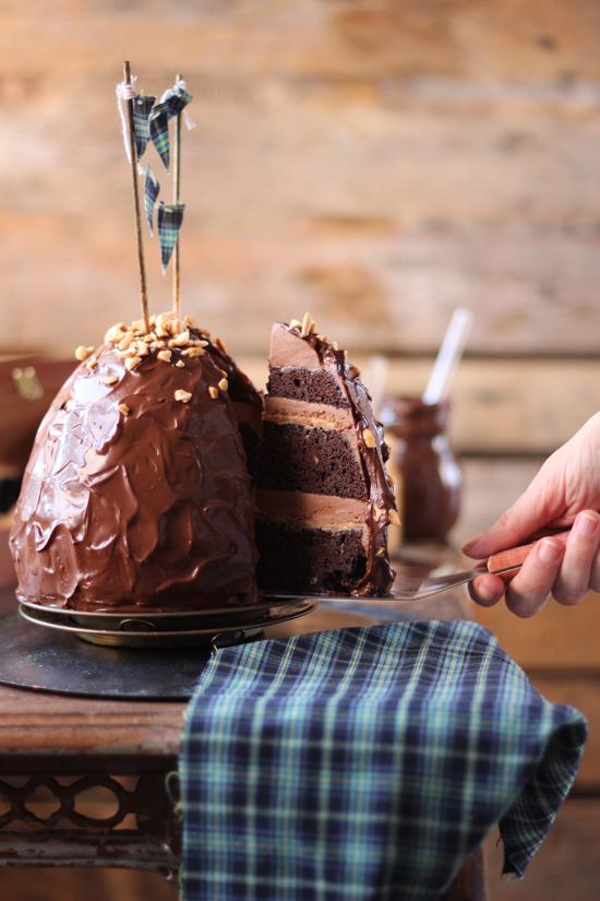 Layer cake de mantequilla de cacahuete 3