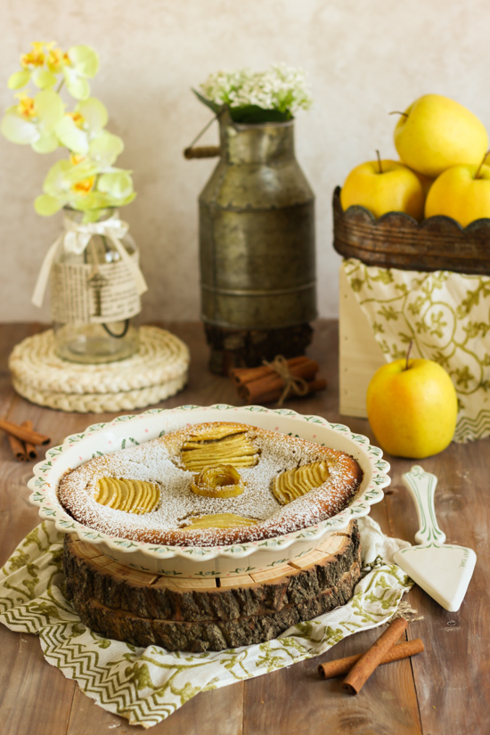 Clafoutis manzana 1