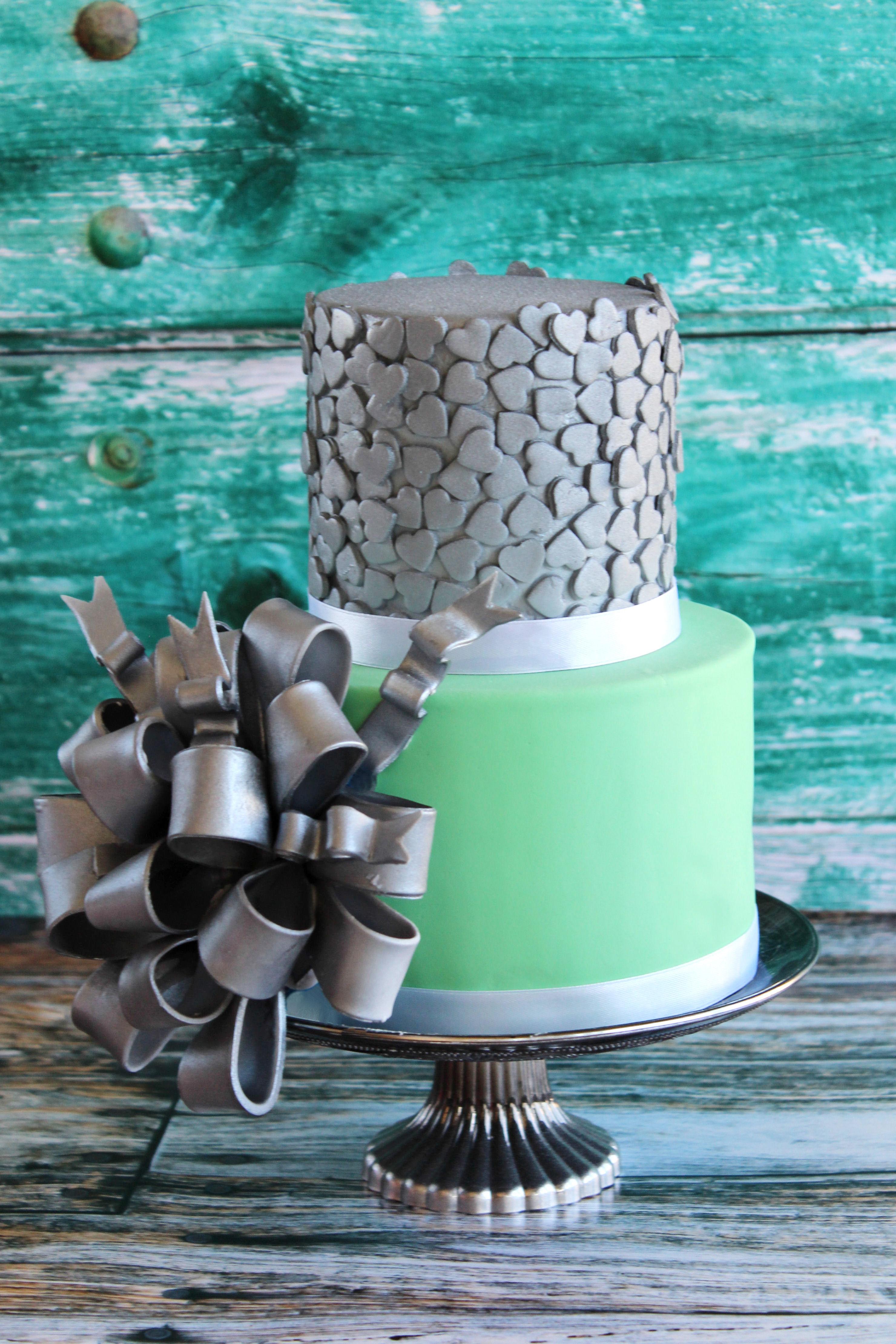 Tarta fondant decorada con sprinkles