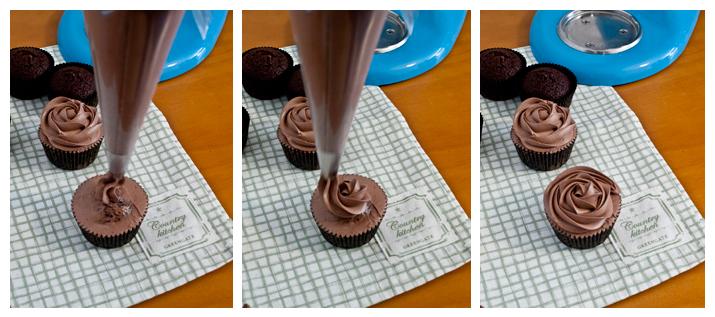 Cupcakes de chocolate y café