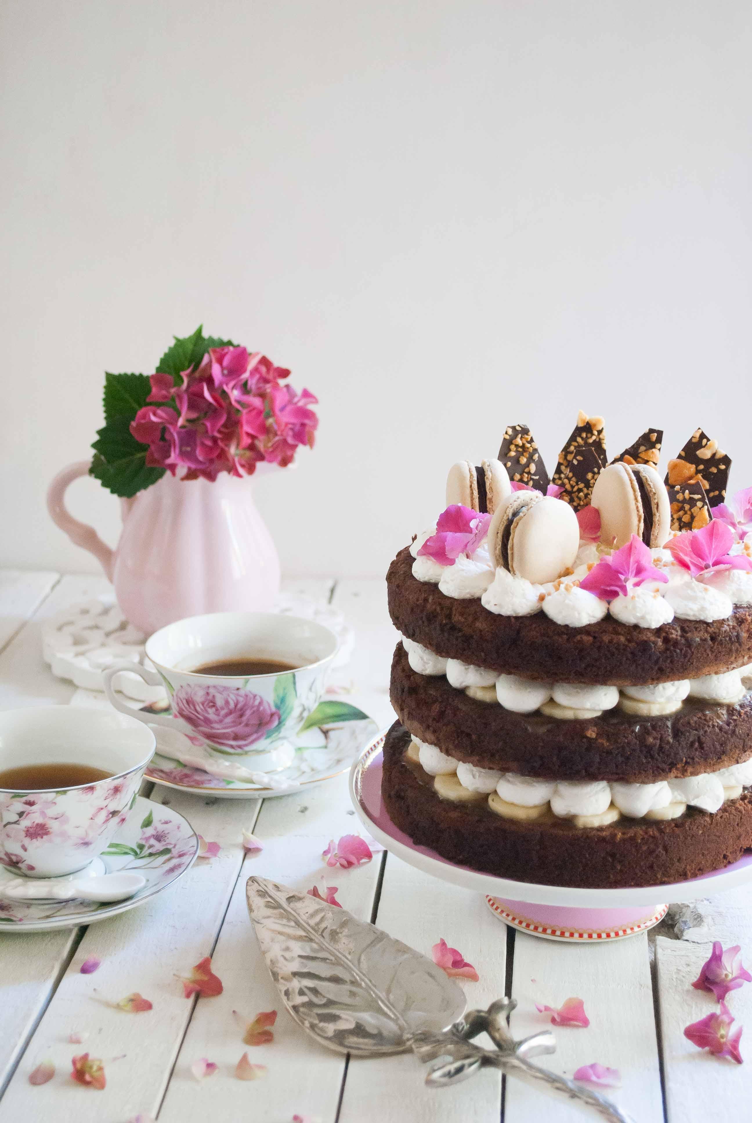Banoffee layer cake paso a paso megasilvita for Dulce coffee studio