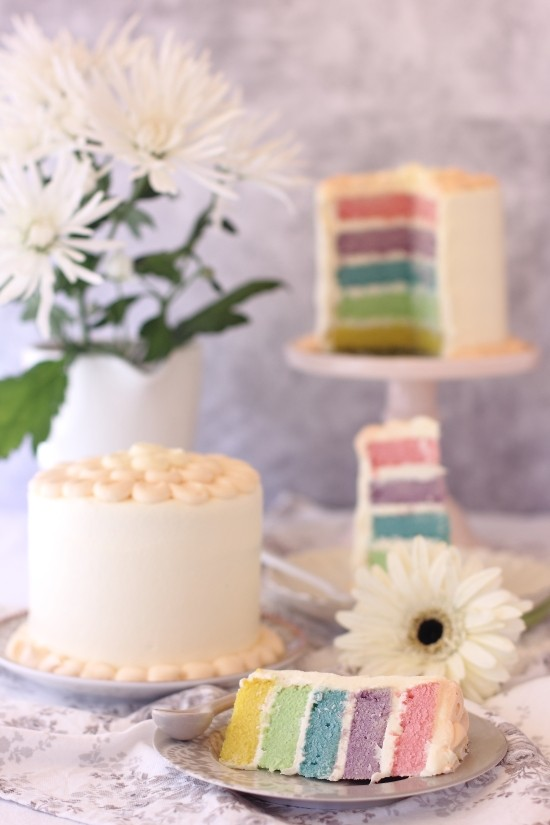Rainbow Layer Cake 3 Cookcakesdeainhoa