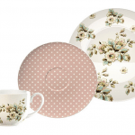 Taza + 2 Platos Rosa Flores Cottage Katie Alice