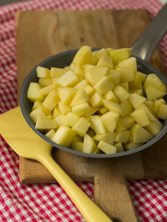 tarta crumble de manzana