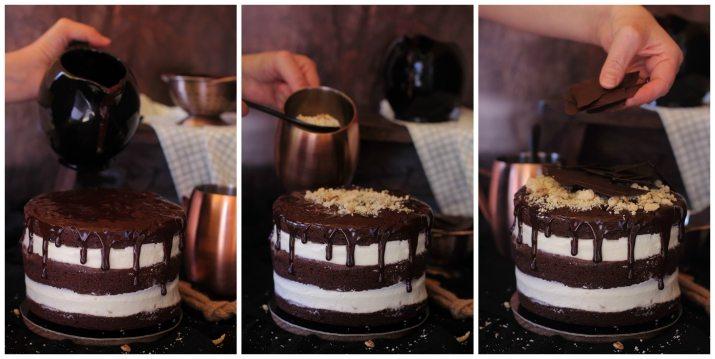Tarta de Brownie con Queso, Coco y Nueces paso a paso 2