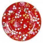 Plato De Cerámica Floral Rojo Pip Studio