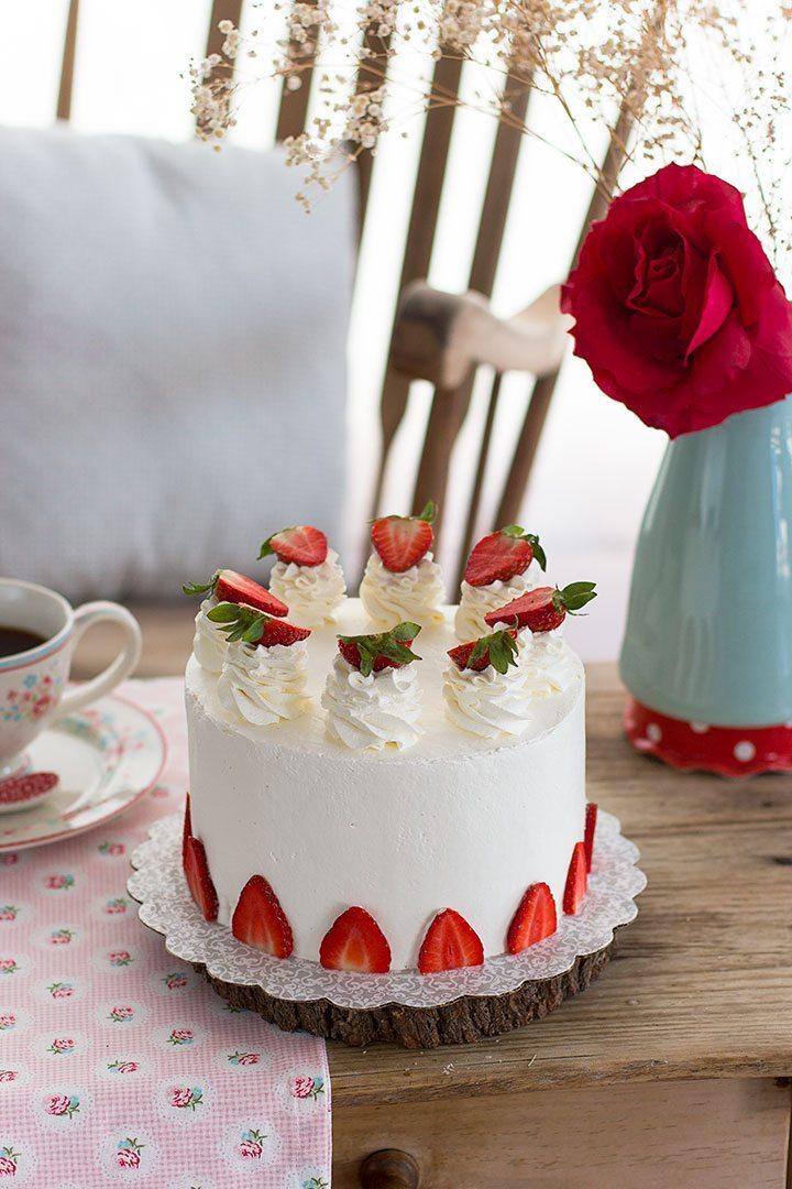 Tarta De Fresa Y Cheesecake 2