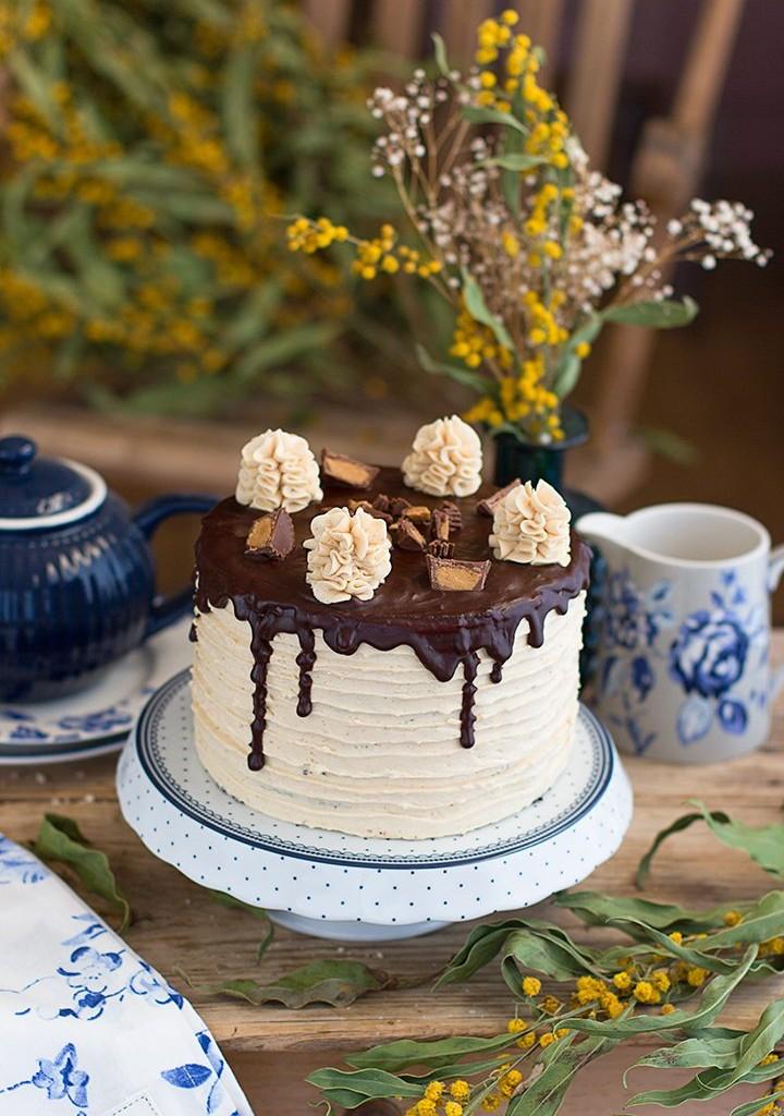 Tarta De Chocolate Y Mantequilla De Cacahuete