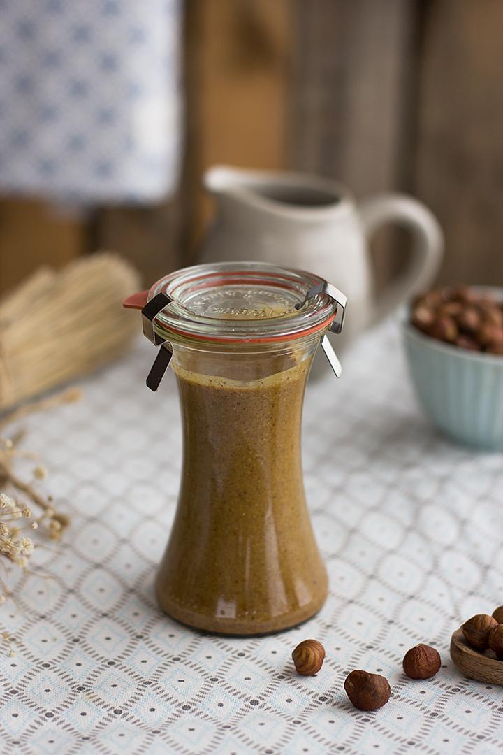 Como hacer mantequilla de avellanas casera receta saludable
