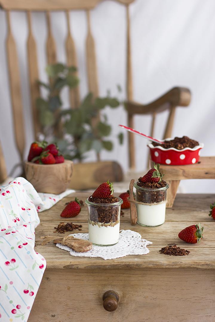 Como hacer Granola de Chocolate casera