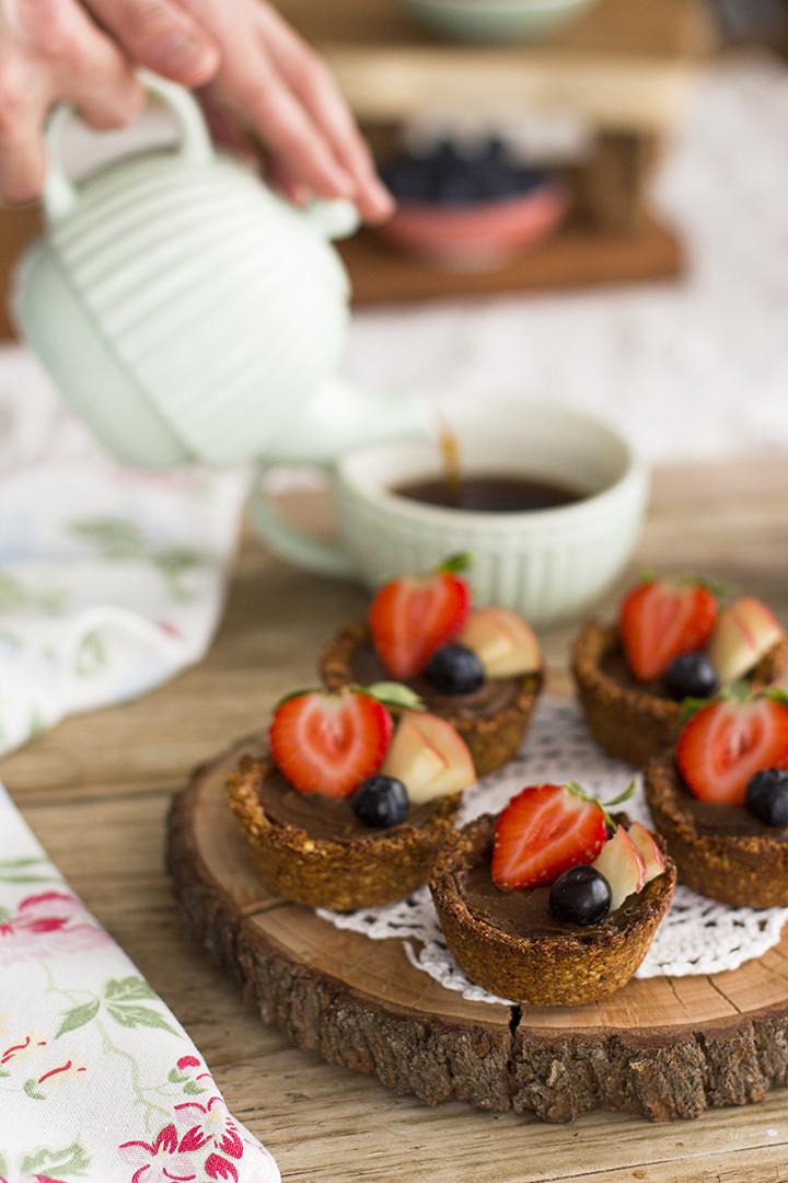 vasitos de avena con nutella de aguacate receta saludable