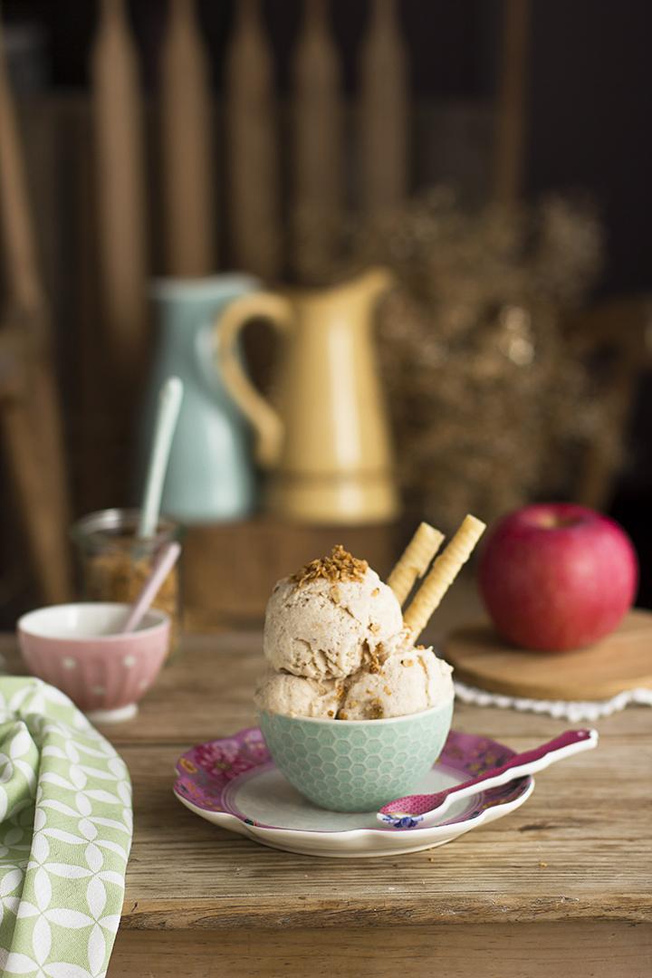 Helado de Tarta de Manzana sin heladera fácil y cremoso