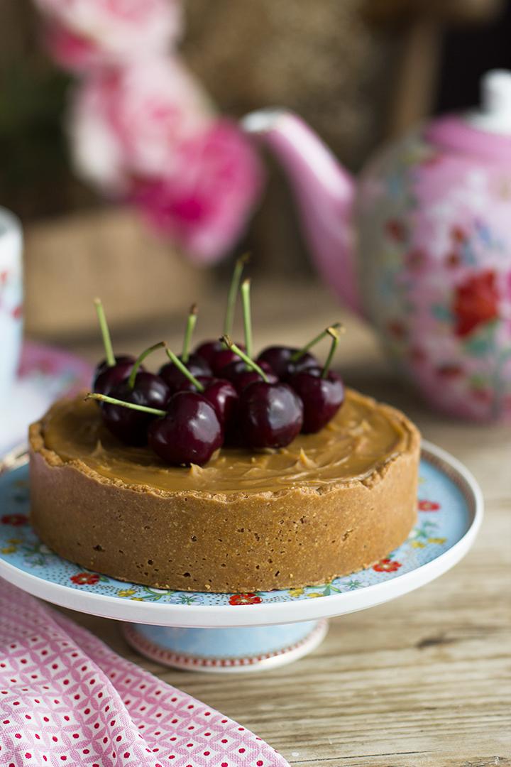 Pastel de Chocolate y Dulce de Leche Saludable sin horno