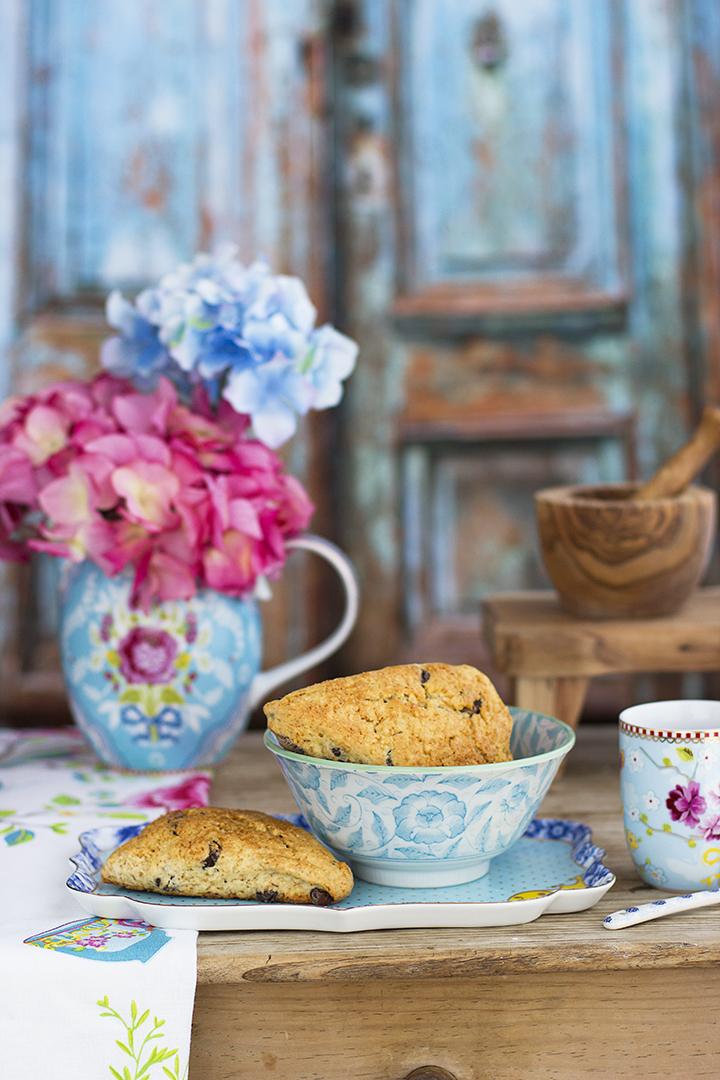Scones con Chocolate receta fácil y rápida para la merienda