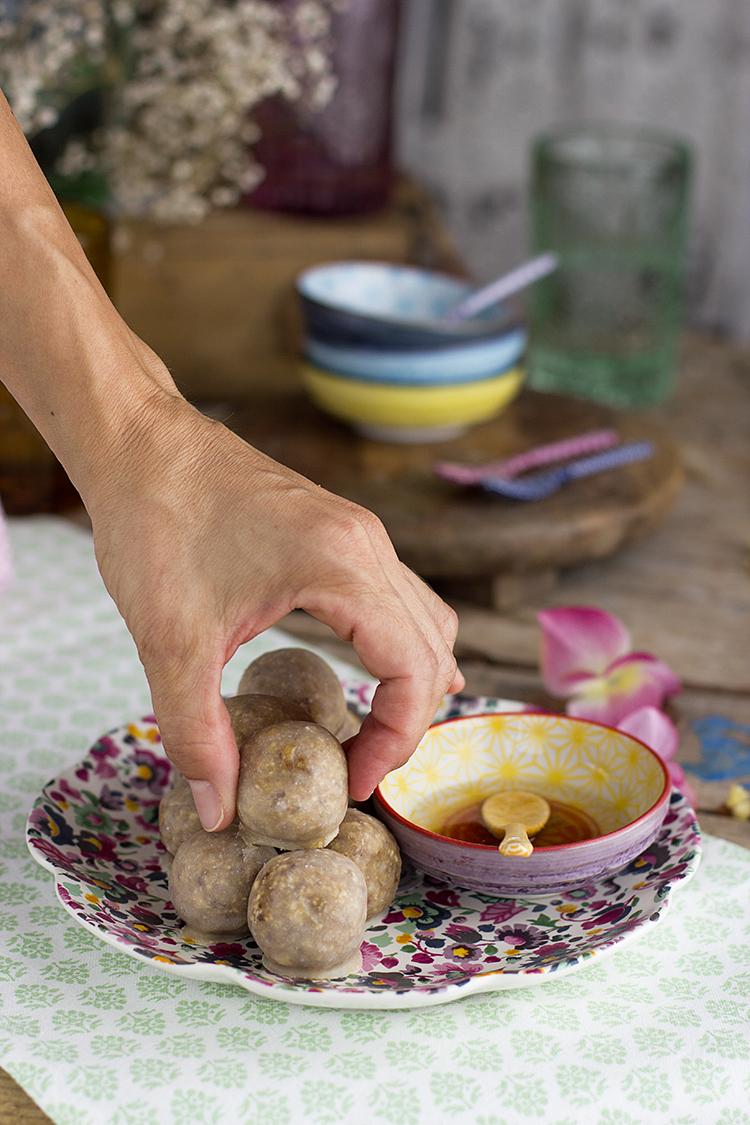 Bolitas energéticas donuts healthy receta saludable