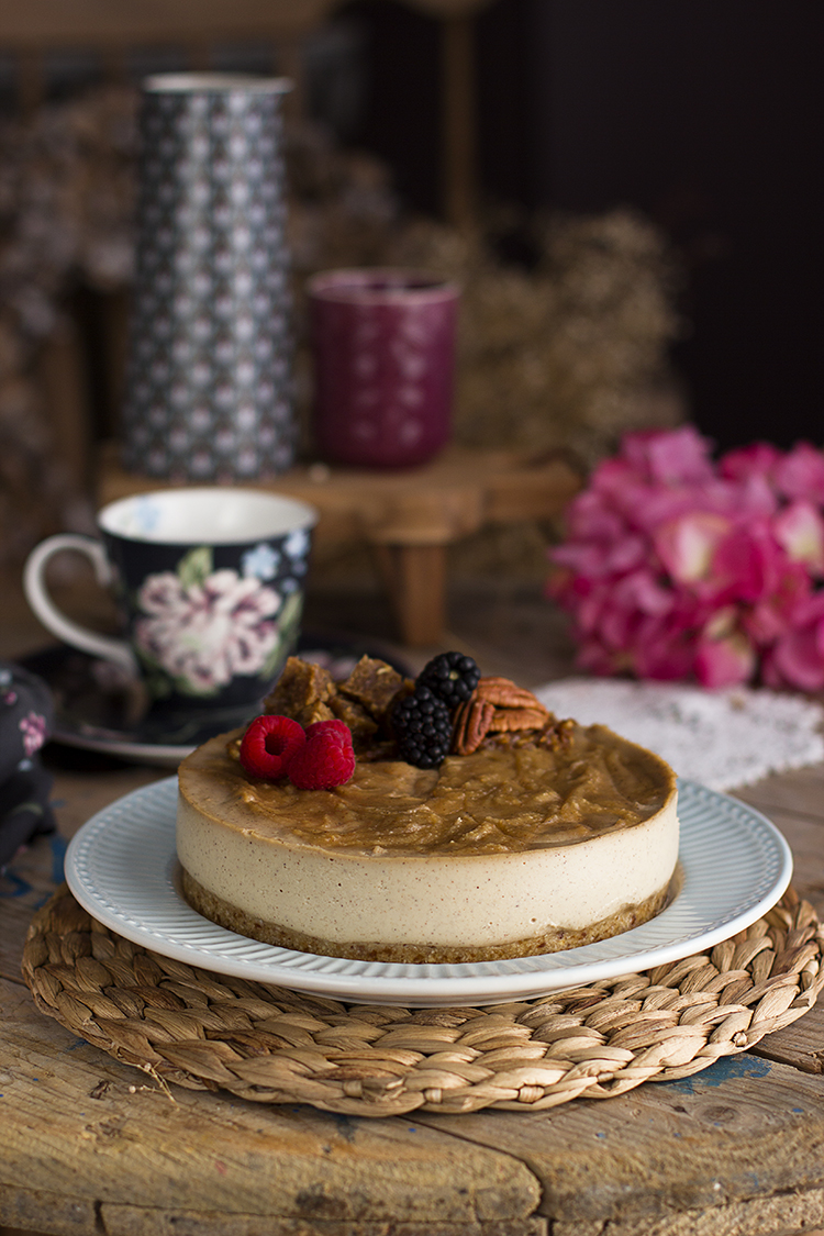 Cheesecake Vegano De Manzana