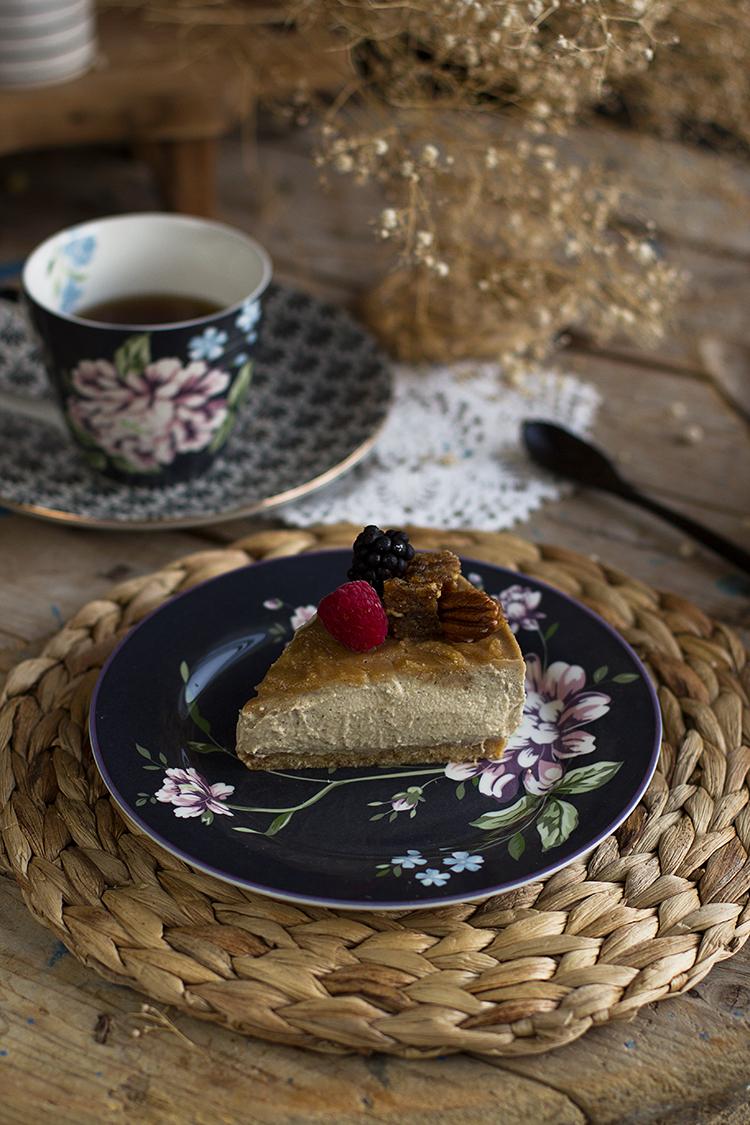 Cheesecake vegano de manzana receta fácil y saludable
