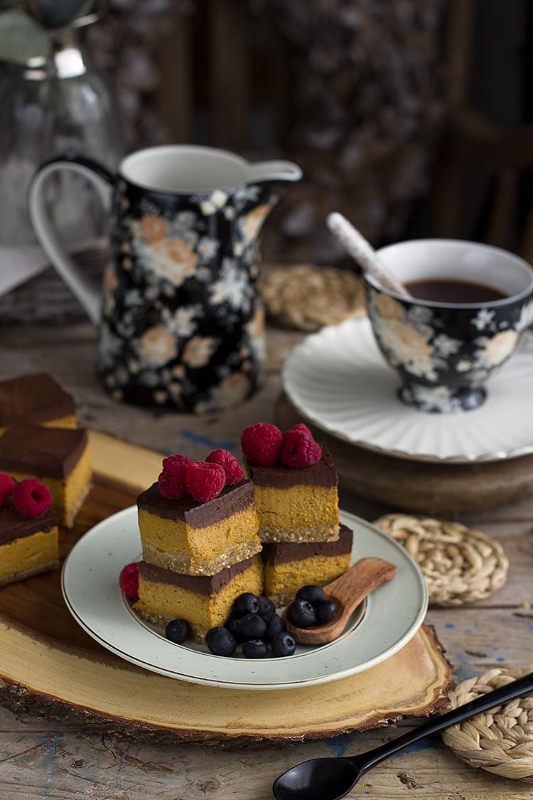 Cuadraditos de Calabaza y Chocolate Healthy Receta fácil