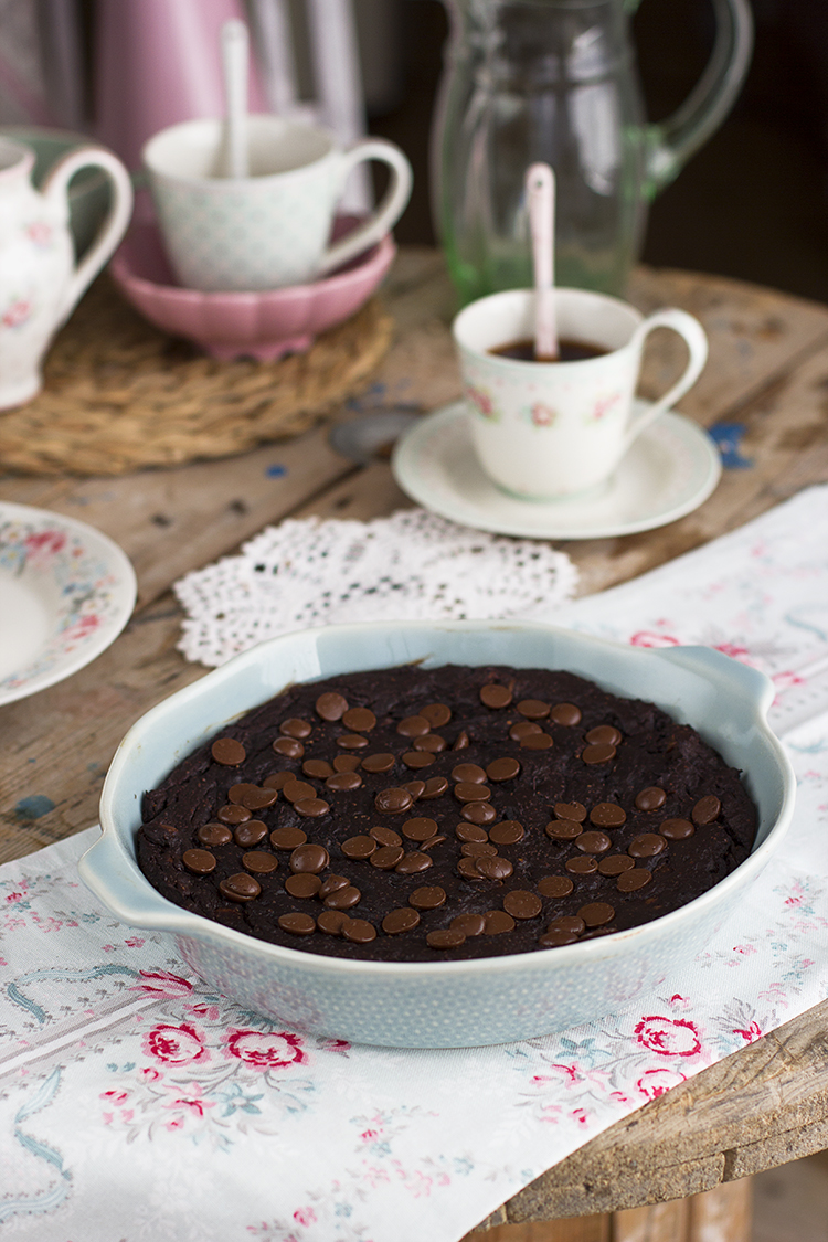 Brownie de Boniato saludable sin harina sin gluten sin azúcar