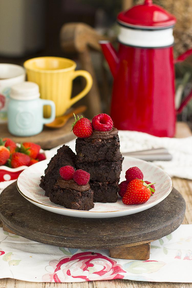 Brownie Fit con Guisantes con solo 100 calorías por porción