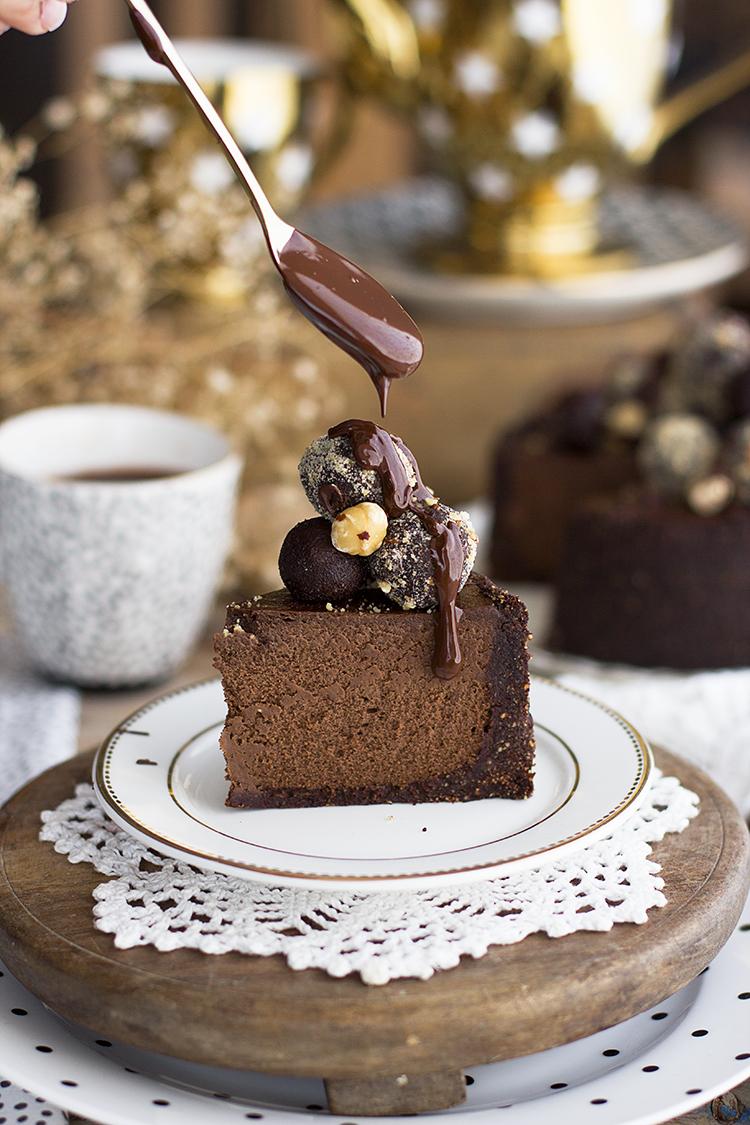 Cheesecake De Ferrero Rocher Saludable