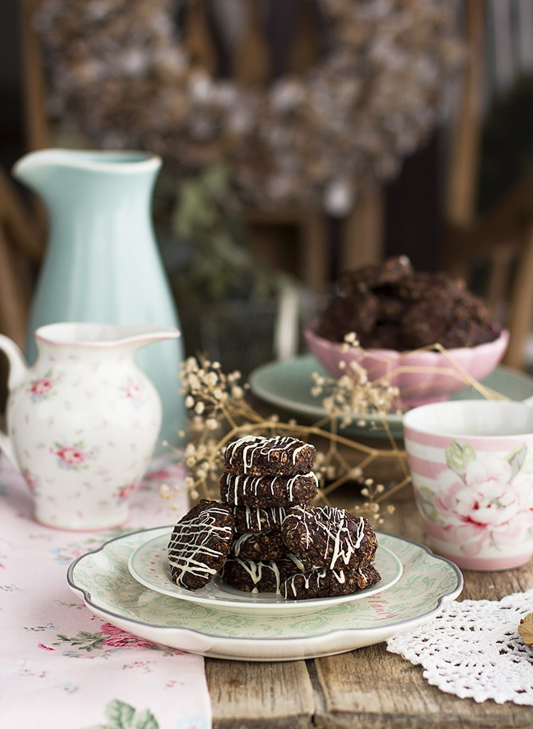 Galletas Sin Horno De Avena, Chocolate Y Cacahuete – Receta Saludable