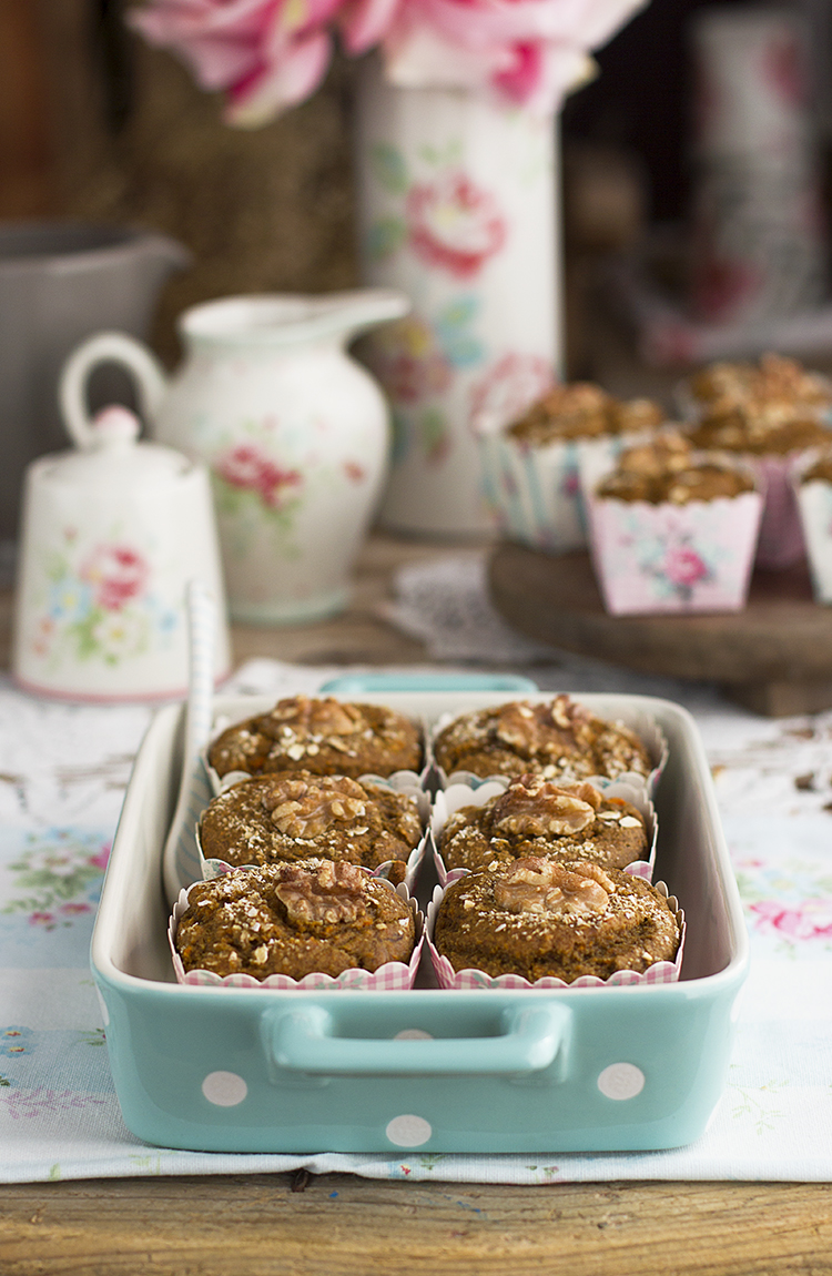Muffins de Zanahoria ricas y saludables sin huevo ni azúcar refinado