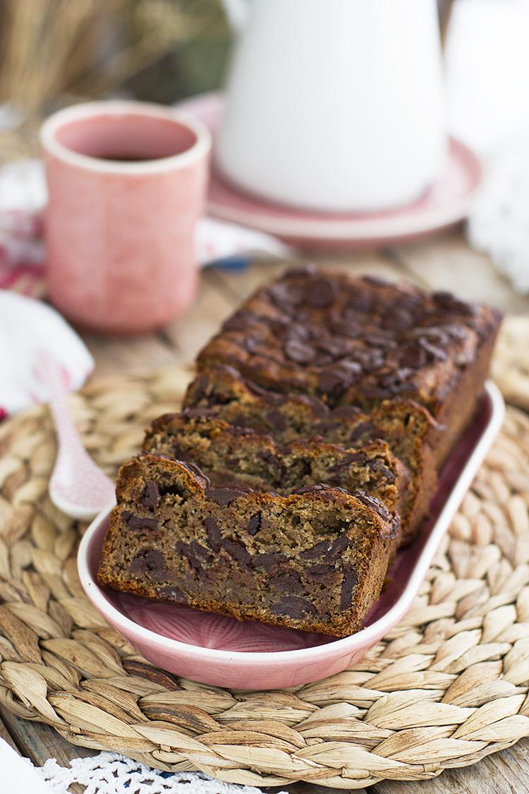 Plum Cake De Platano Y Chocolate 6