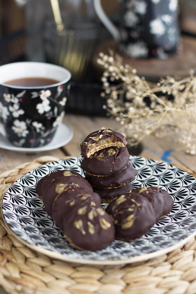 super galletas con caramelo de anacardos, fáciles y super ricas