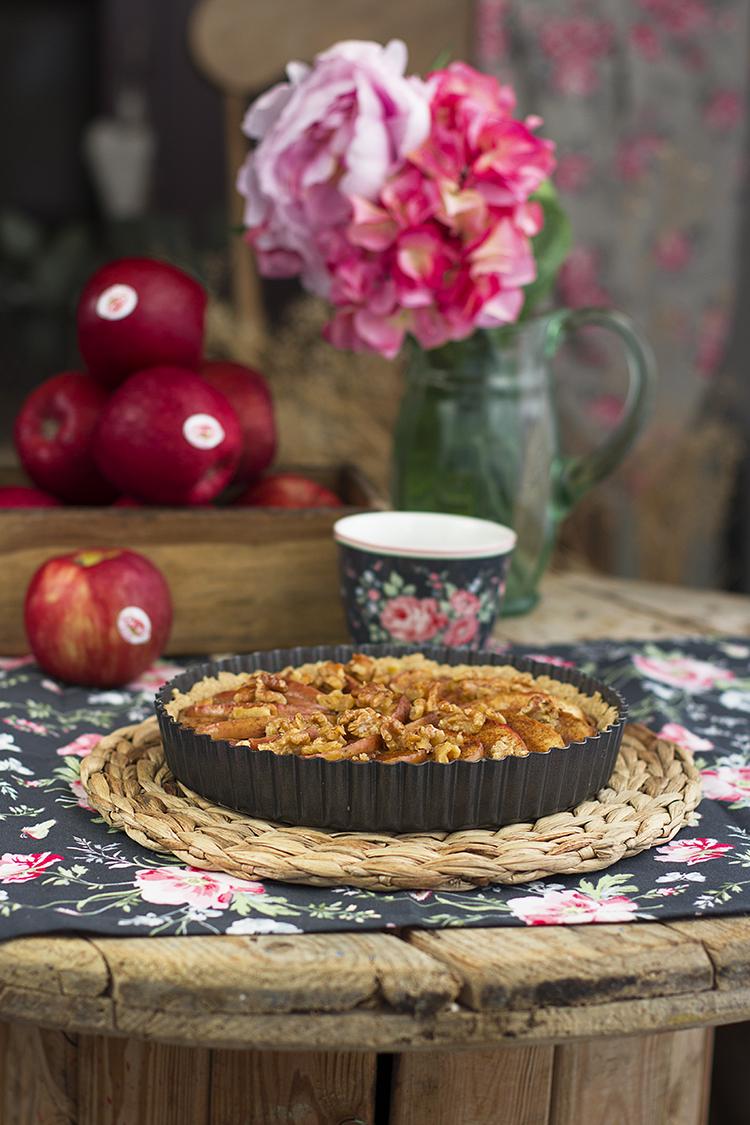 Tarta de Manzana fácil y sin azúcar super saludable