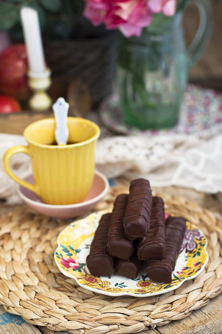 Chocolatinas Twix Saludables fáciles de hacer y ricas