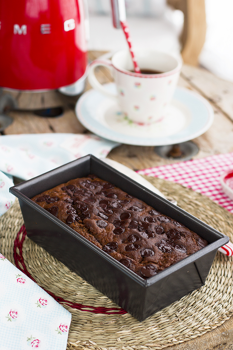 Plum cake de zanahoria y chocolate saludable, fácil y muy rico