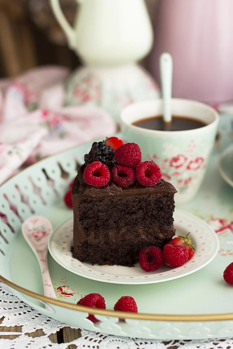 Tarta de Chocolate Saludable Deliciosa sin gluten sin harina