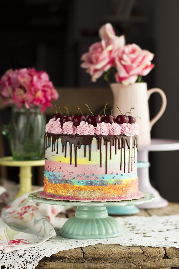 Tarta de Chocolate y Frambuesa por mis 100.000 seguidores en Instagram