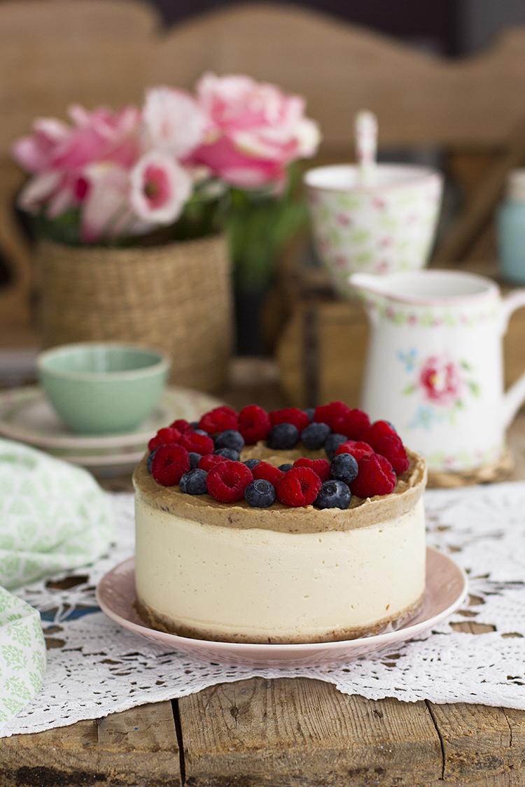 Cheesecake vegano de vainilla y caramelo la más rica de este mundo
