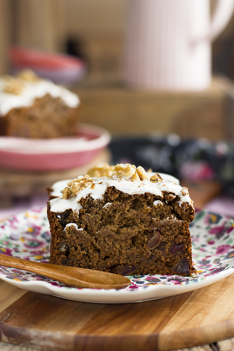 Plum cake de Canela Saludable sin gluten, sin leche, sin huevos