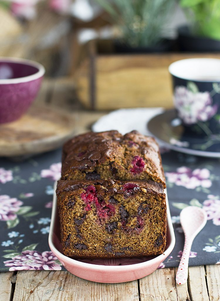 Plum Cake De Frambuesa Y Chocolate Saludable