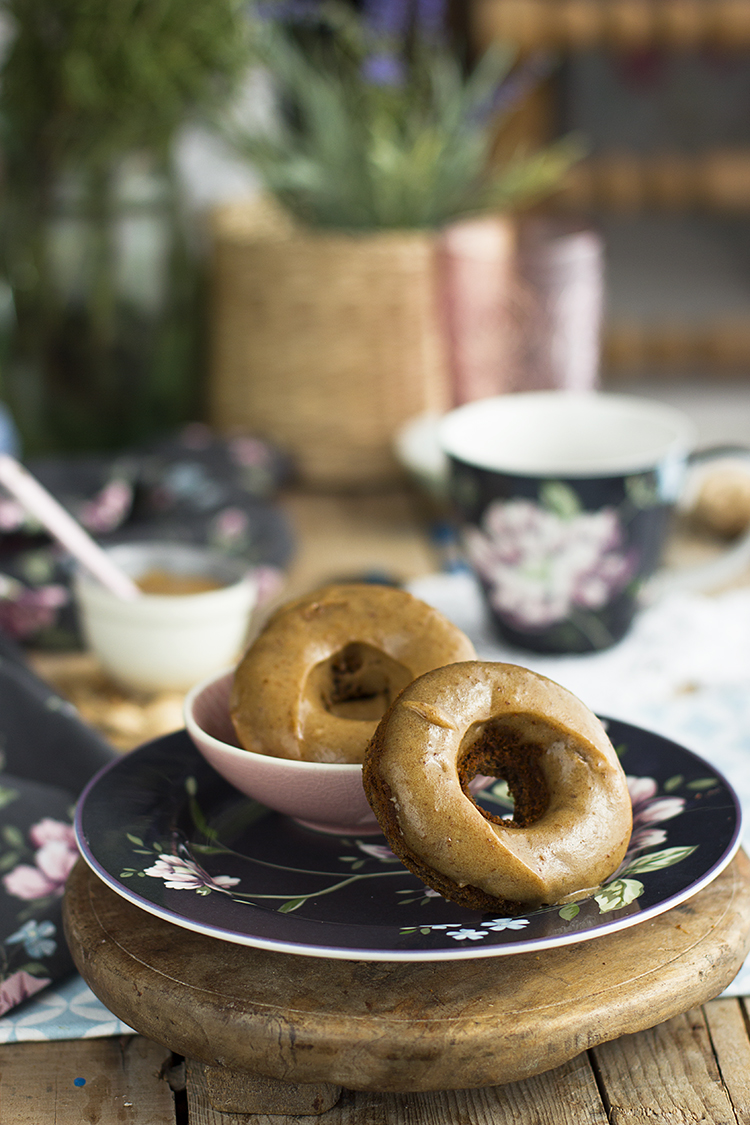 Donuts de Caramelo saludables super esponjosos y deliciosos