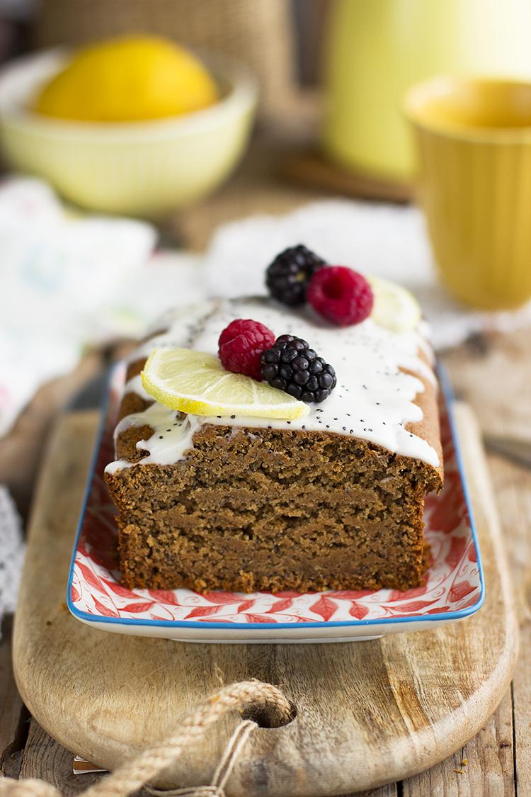 Plum Cake De Limón Y Semillas De Amapola Saludable