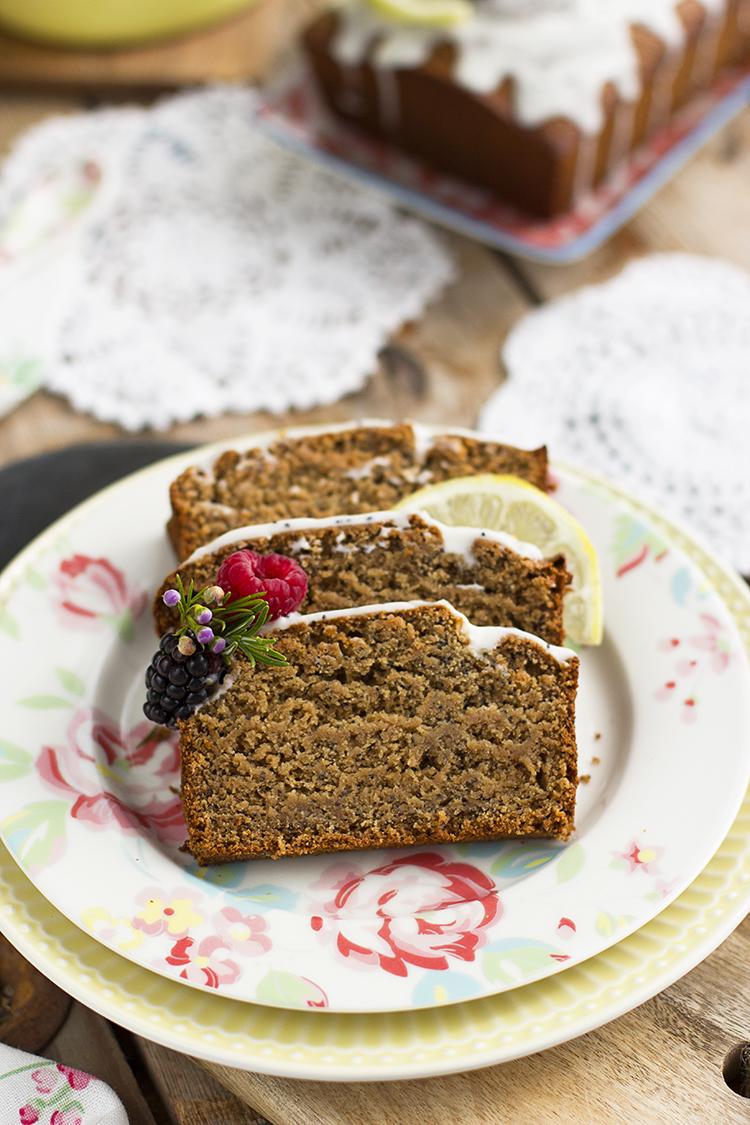 Plum Cake de Limón y Semillas de Amapola super saludable y rico