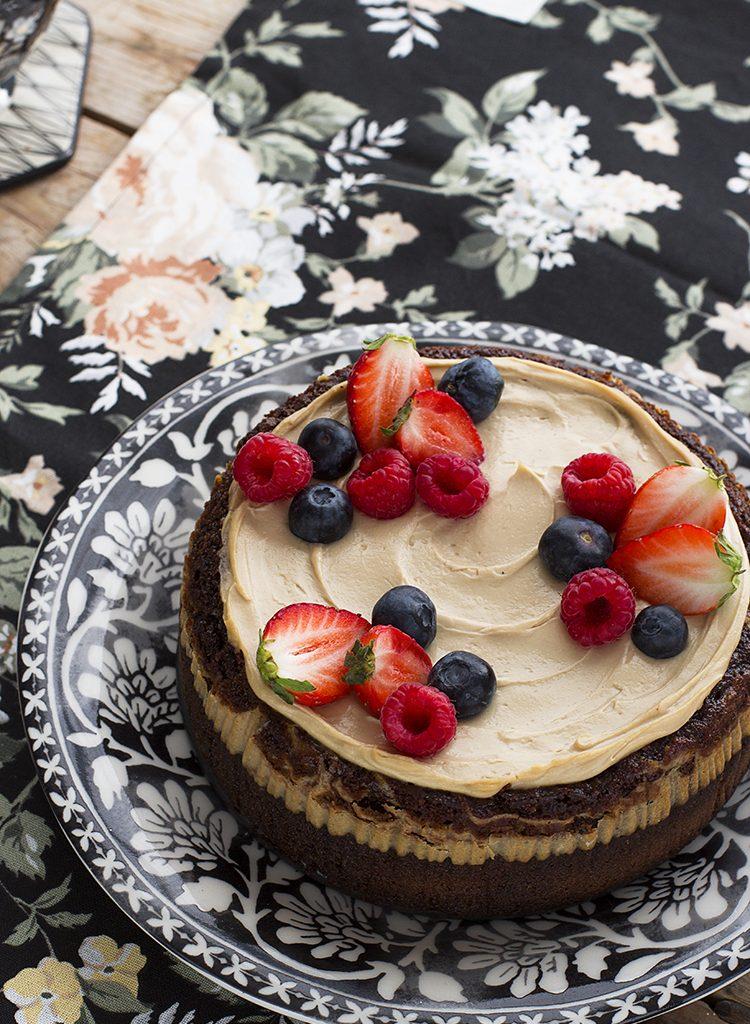 Brownie Cheesecake Saludable